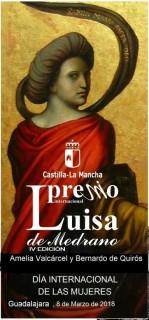 Cartel premio Luisa de Medrano