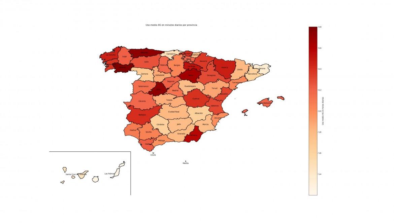 mapa uso_medio_4g en_minutos_diarios_por_provincia