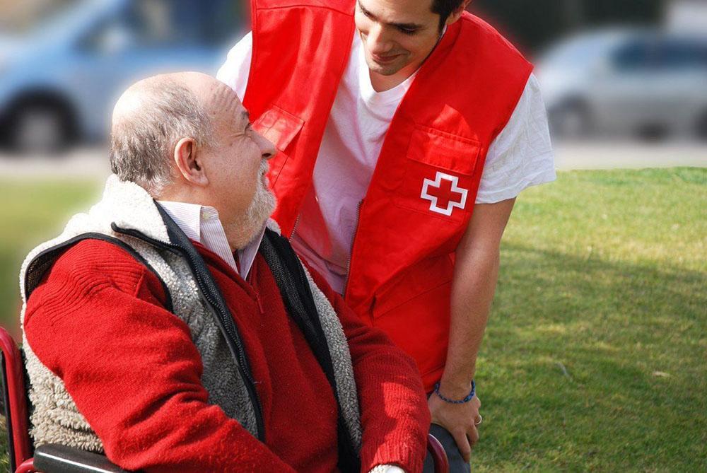 Cruz roja colabora