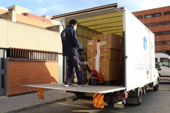 Guadalajara descarga camion material