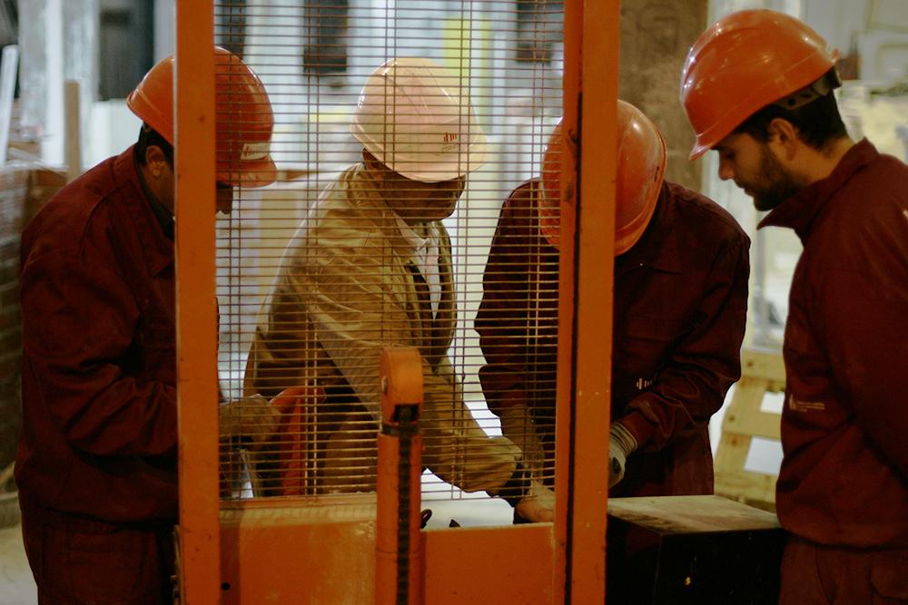 Trabajadores del sector en un Curso de la Fundación Laboral d ela Construcción