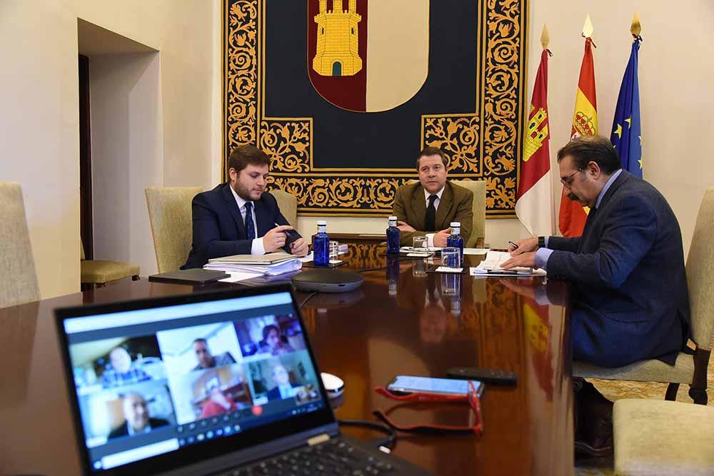 Videoconferencia con representantes del sector del trasporte