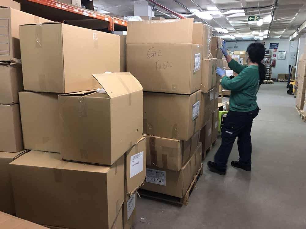 Distribución material sanitario Toledo