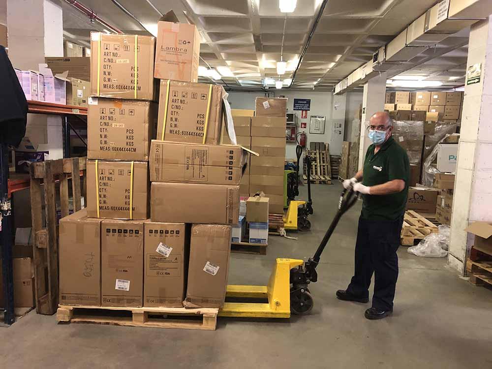Envío de material a las gerencias de la provincia de Toledo