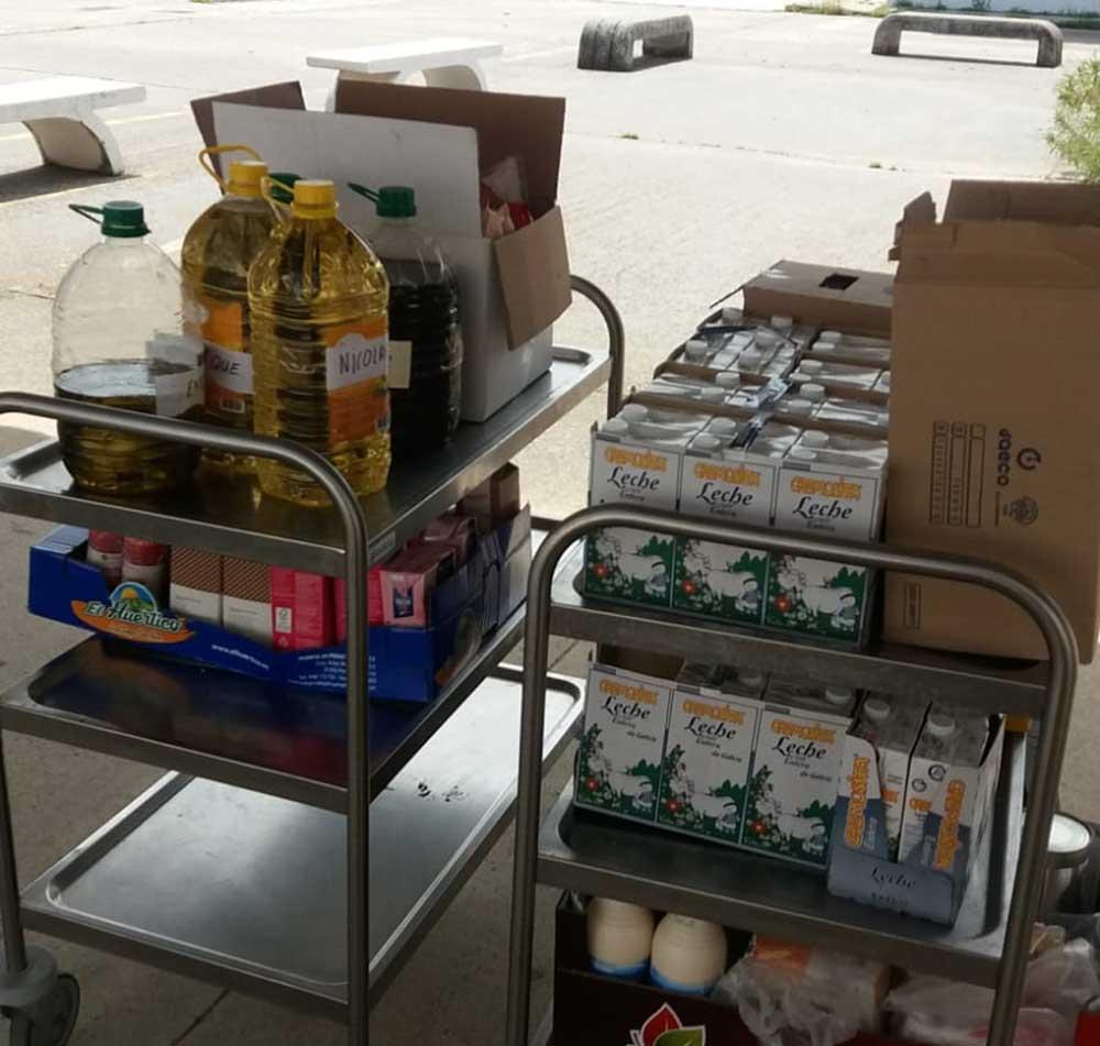 Talavera donación alimentos san isidro