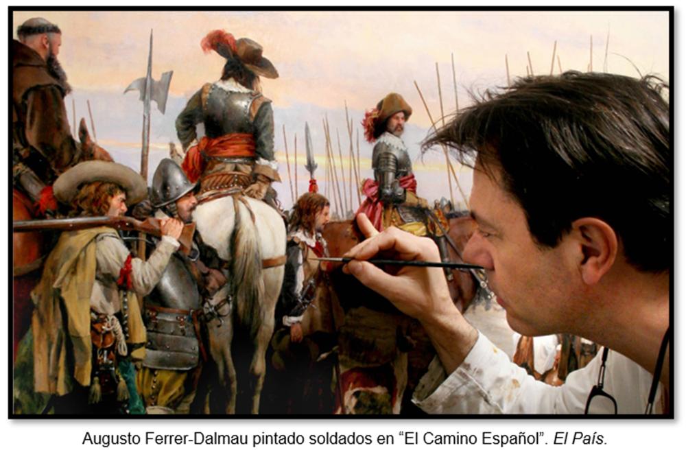 Augusto Ferrer-Dalmau pintando