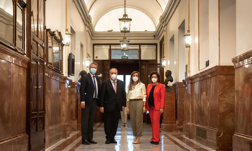 Jaime de Olano, Carmen Navarro, Vicente Tirado y Carmen Riolobos - 250620