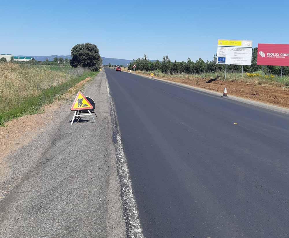 obras carretera El Torno-Pueblonuevo