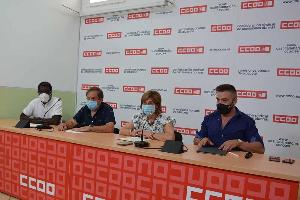 Albacete rueda de prensa CCOO