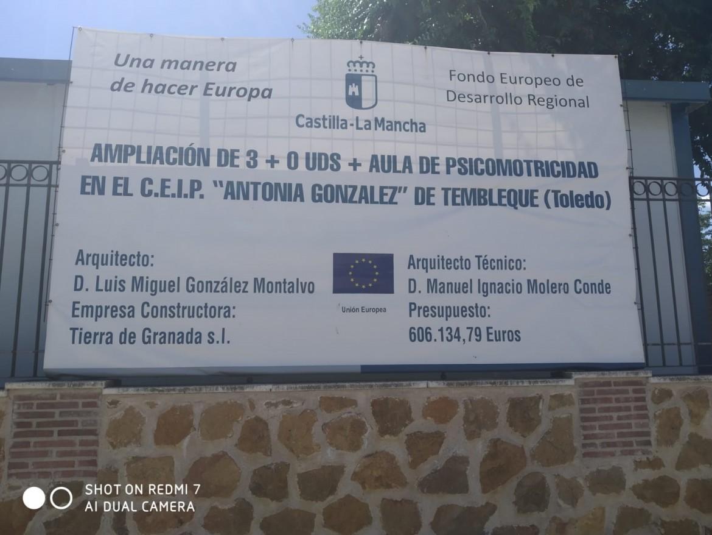 Cartel obras ampliación colegio Tembleque - 210720 (2)
