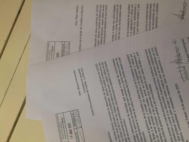 Carta Prostitución Agosto 2020
