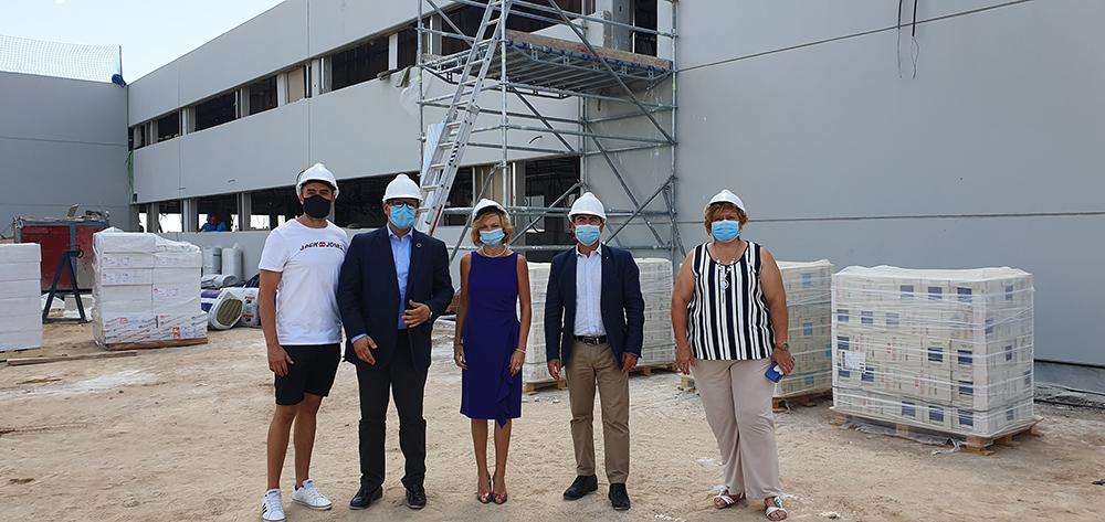 Visita obras segunda fase del Instituto número 2 de Yuncos