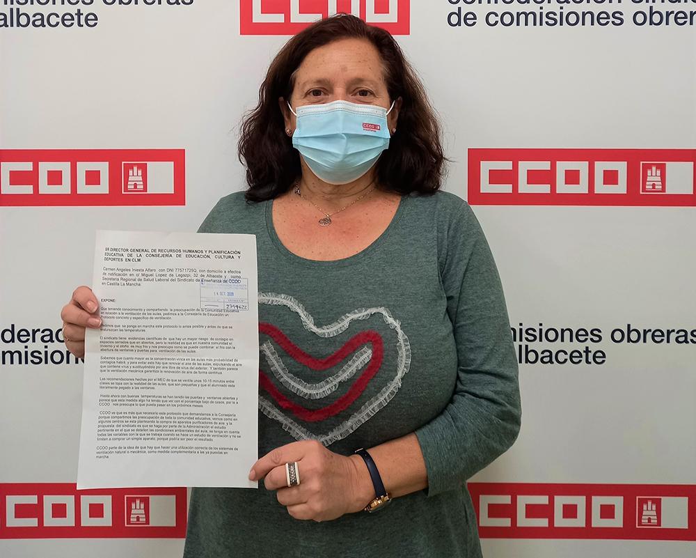 Carmen Iniesta CCOO Enseñanza CLM