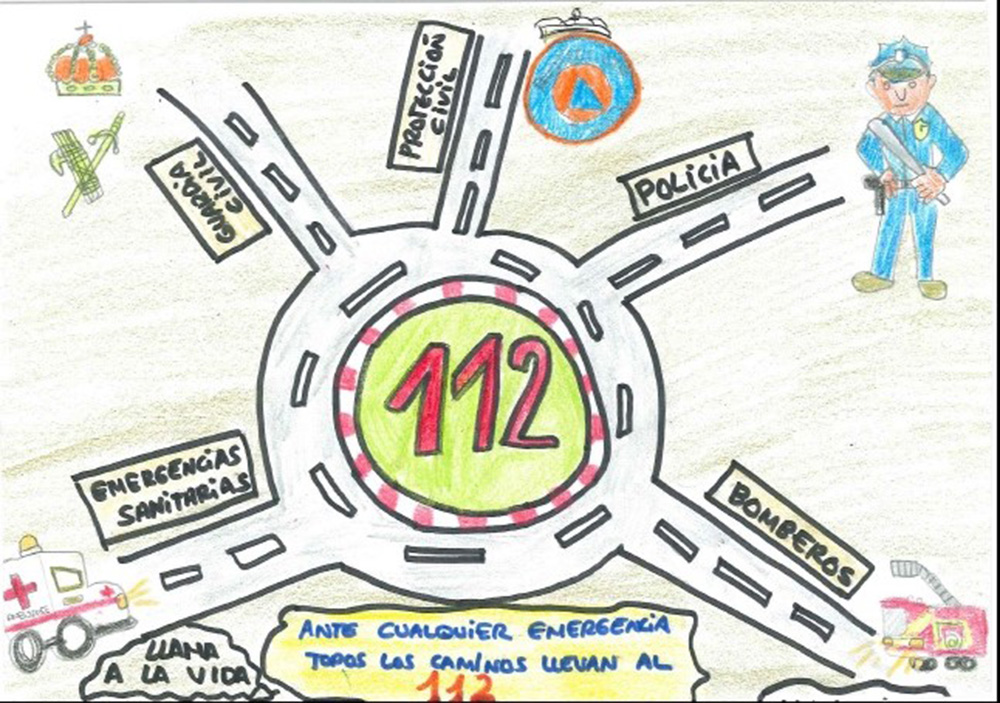 2020-02-01 Dibujo ganador concurso escolar 112