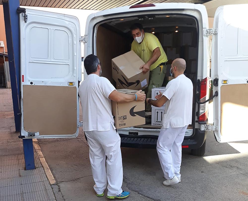 Reparto material sanitario Valdepeñas