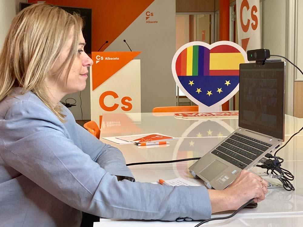 reunión telematica Coordinadores autonomicos con Inés Arrimadas