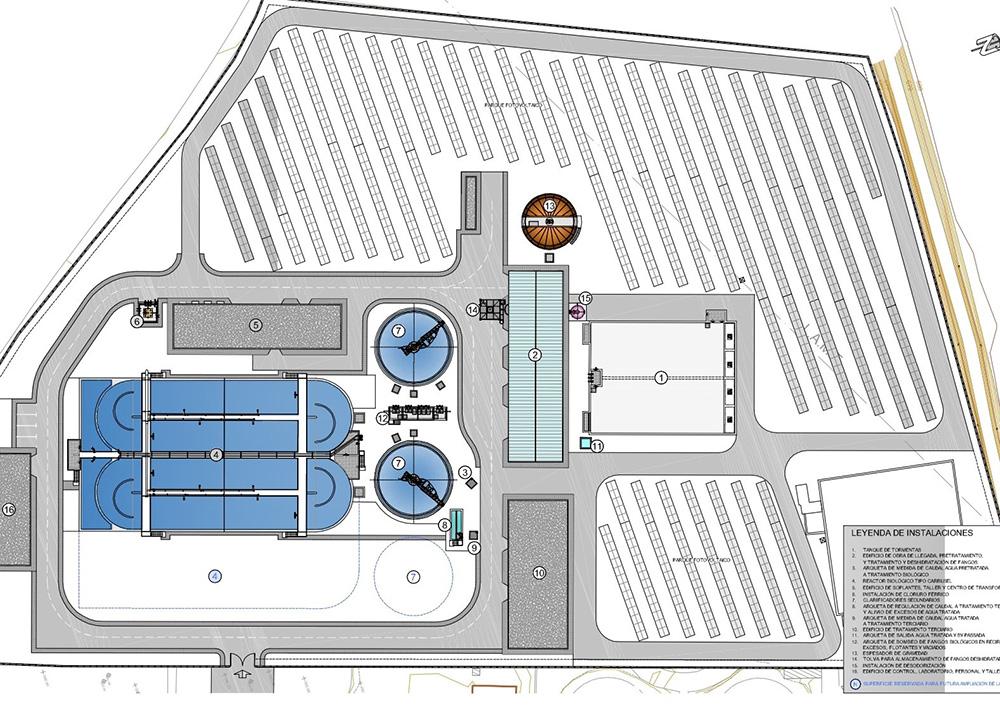 Plano de implantación EDAR de Almansa