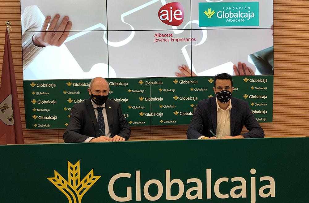 Firma convenio Fundación Globalcaja Albacete - AJE