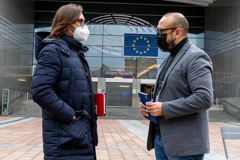 Luis Mendoza teniente alcalde Cs con Jordi Cañas eurodiputado Cs