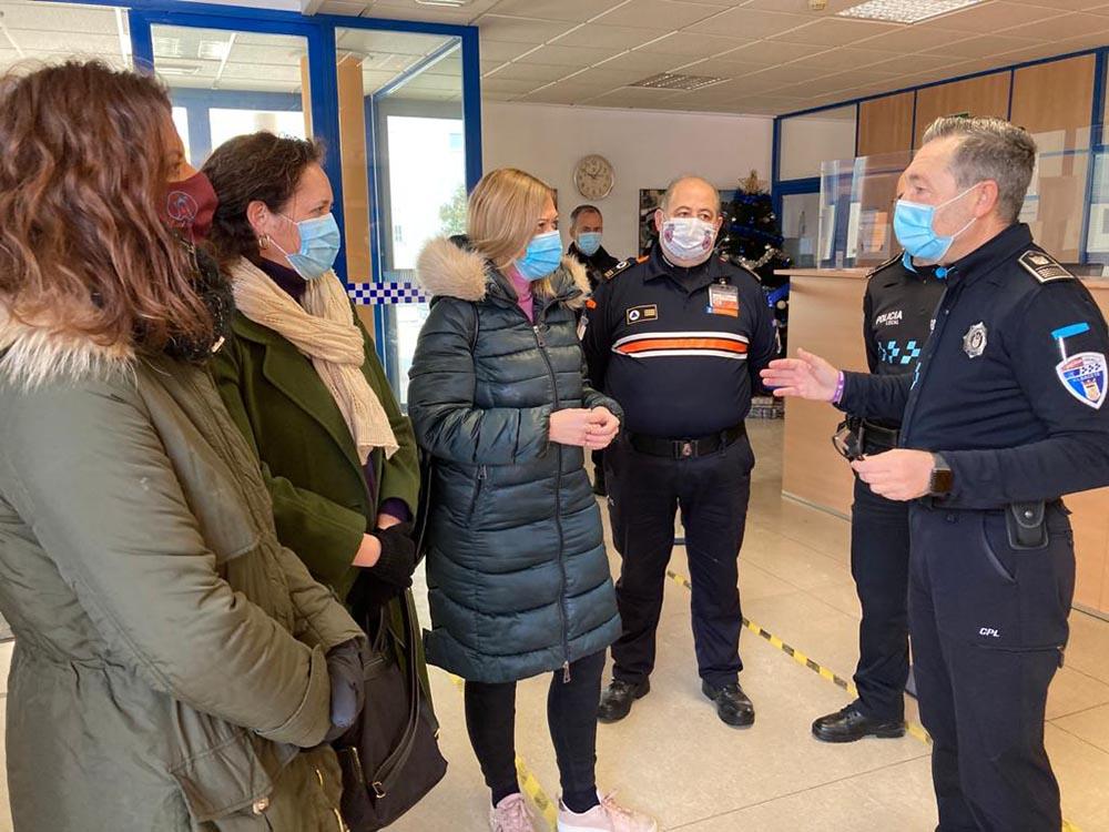 Picazo y concejales Cs Albacete con Protección Civil