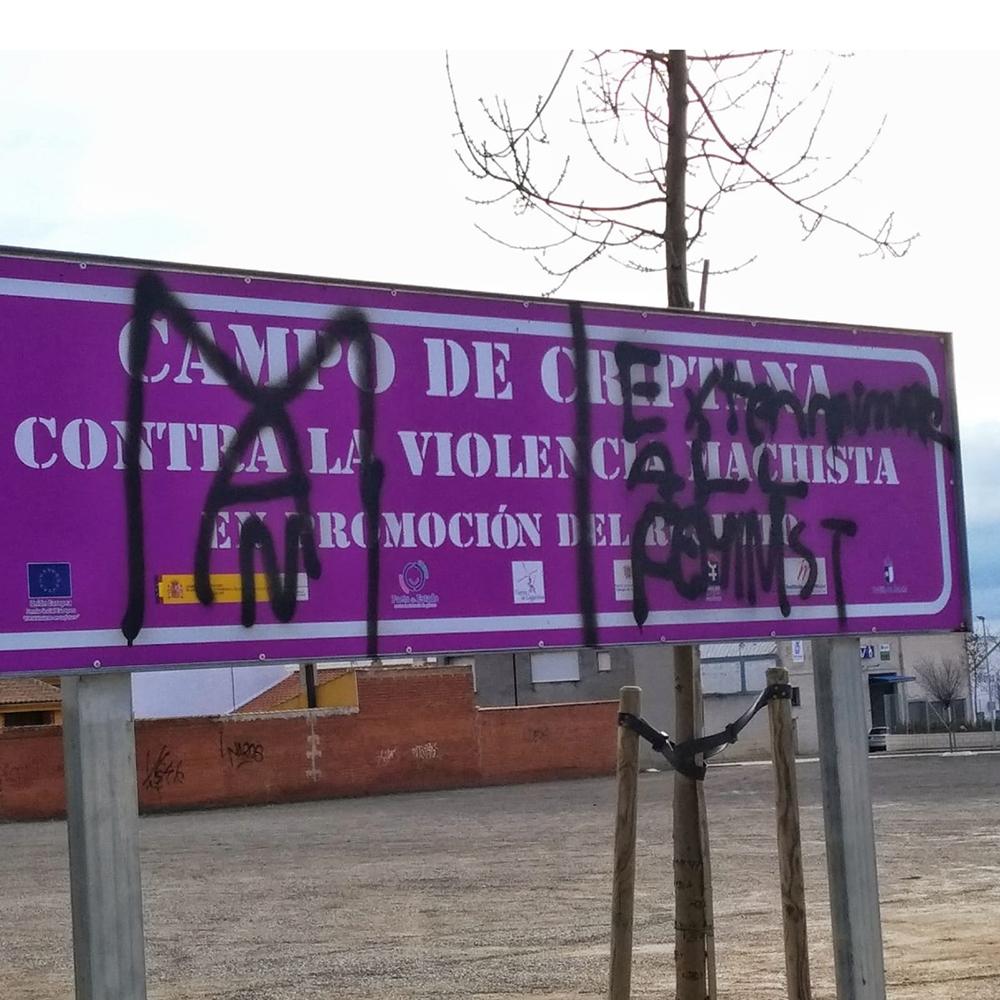 Campo de CRiptana - Acto vandálico