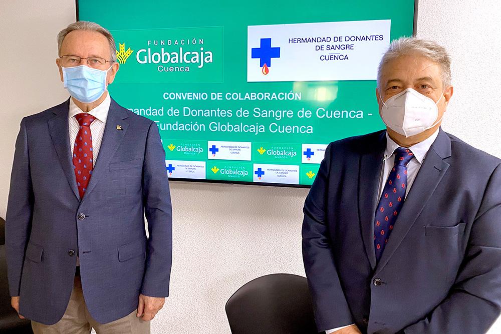 Firma convenio Fundación Globalcaja Cuenca - Hermandad Donantes Sangre