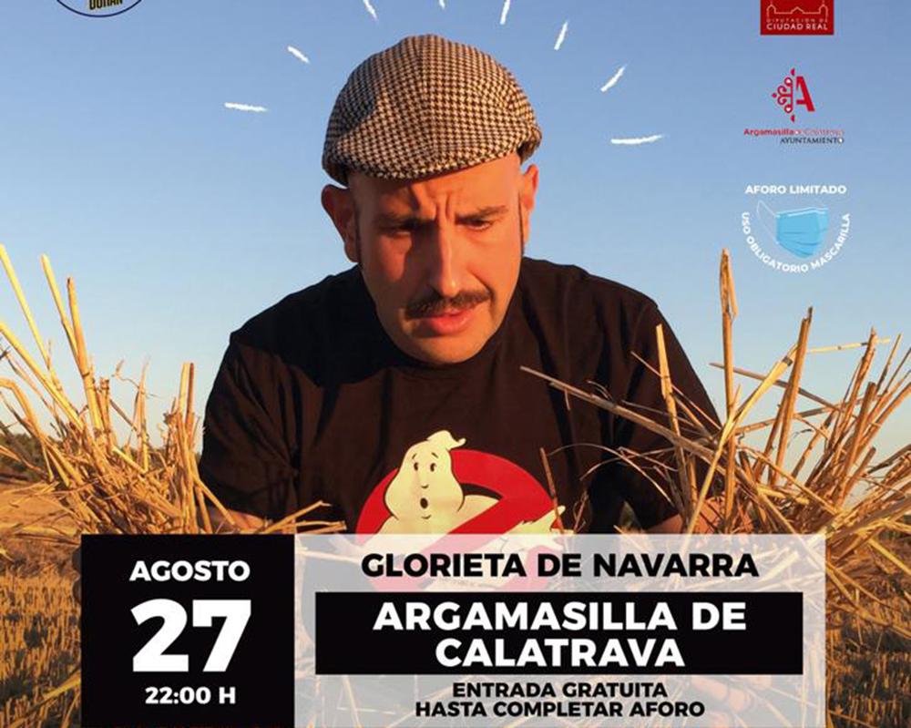 Cartel del espectáculo de Agustín Durán en Argamasilla de Calatrava